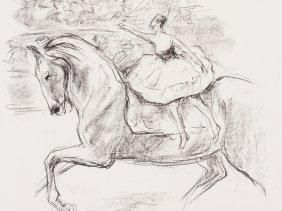 Max Liebermann, Die Kunstreiterin, Lithograph, 1921