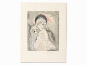 Jacques Villon After Marie Laurencin, Femme Au Singe,