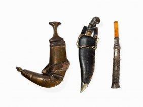 Jambiya, Dagger And Knife, 19th/20th C.