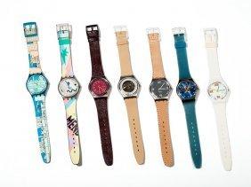 Eclectic Set! Seven Unique Swatch Watches, Switzerland