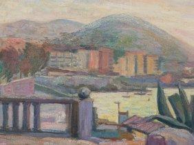 "Damian Segarra Codina, Painting ""view Of Benidorm"","