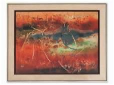 Thomas Yeo (born 1936), Abstract Landscape, c. 1970