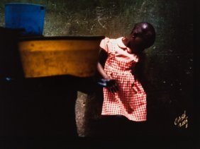 Howard T. Cash (b. 1953), 'a Moment's Pause', Nigeria,