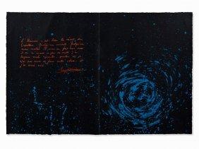 Otto Piene, Lithograph, Star Trails, Switzerland, 1979