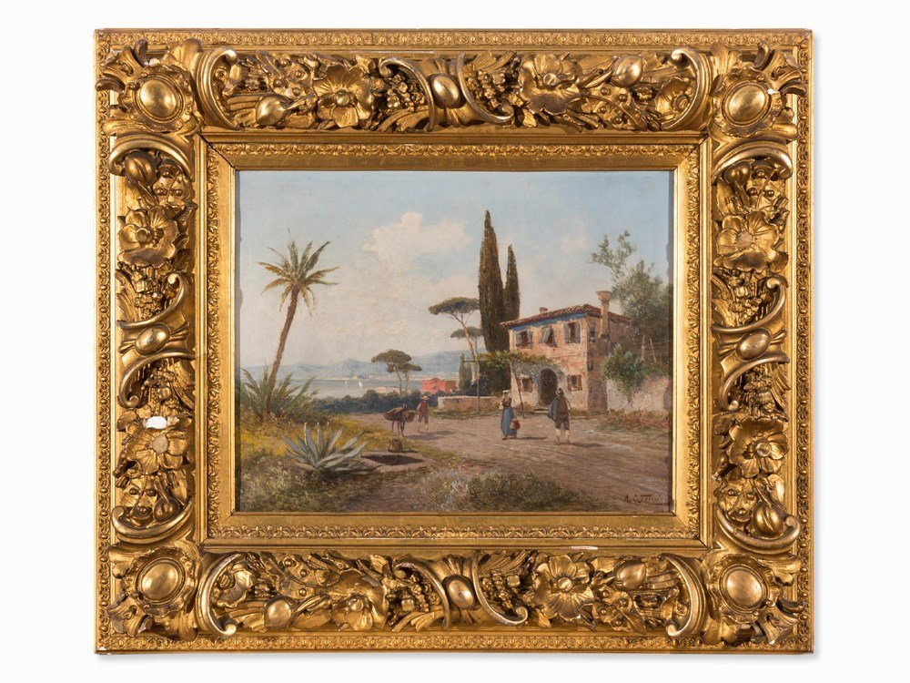 Georg Fischhof, Italian View, Painting, around 1900