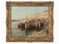 Otto Pippel (1878-1960), Mediterranean Harbor, 1st H.