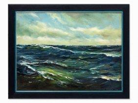 Claus Bergen (1885-1964), Oil On Canvas, 'vor Dem