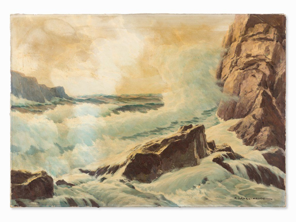 Paul Grabwinkler (1880-1946), Sea Surf, 1st H. of 20th