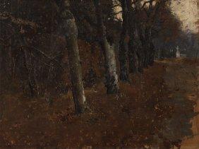 Albin Egger-lienz (1868-1926), Alley In The Park, C.