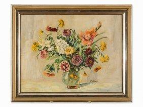 Otto Beyer (1870-1955), Flower Still Life, Oil, Circa