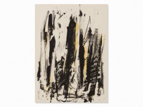 Joan Mitchell, Abres (black And Yellow), Color