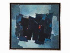 Francis Bott (1904-1998), Composition Blue, Oil