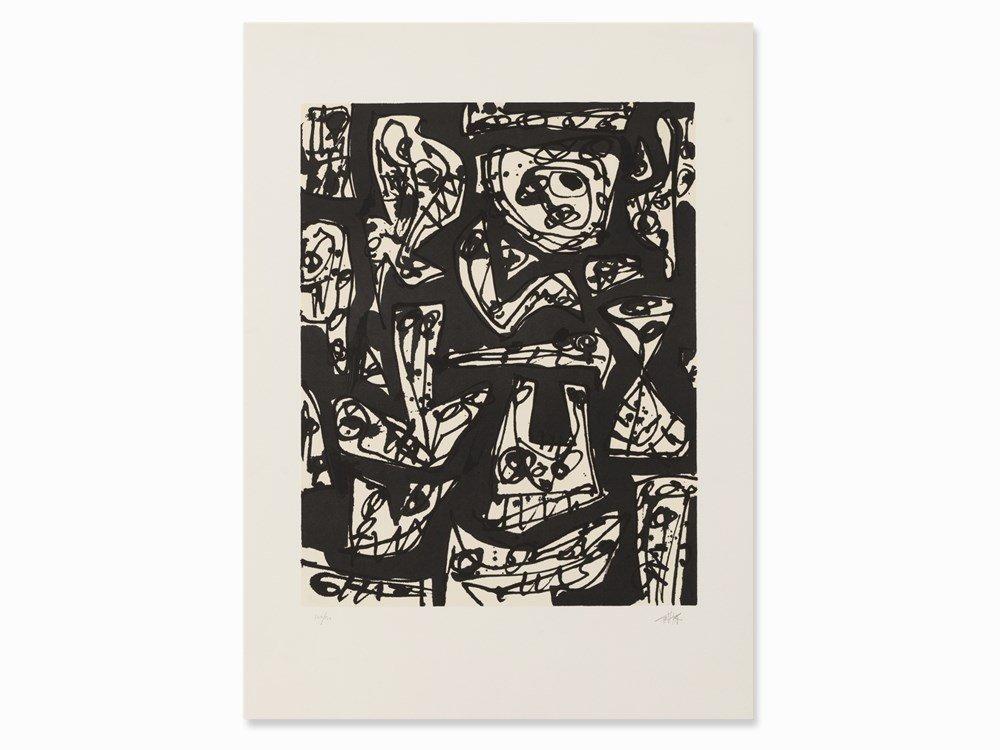Antonio Saura, Le Mystère des Choses, Lithograph, 1989
