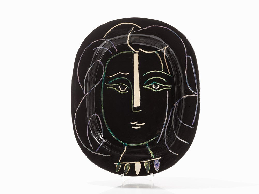 Pablo Picasso, Visage de Femme (Women's Face), Plate,