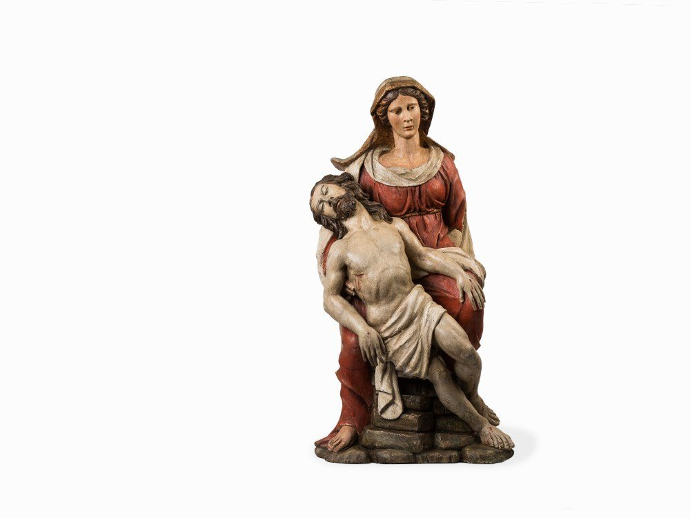 A Baroque Figure of a Pieta, Austrian, 17th C.