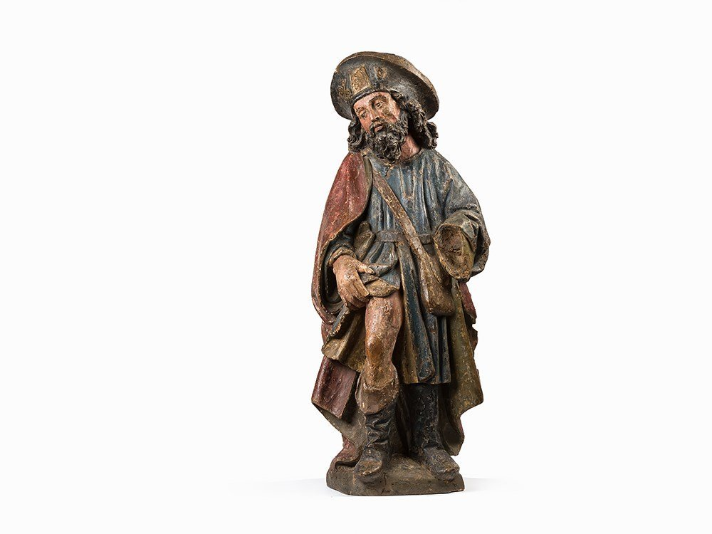 A Figure of Saint Roch, 17th C.