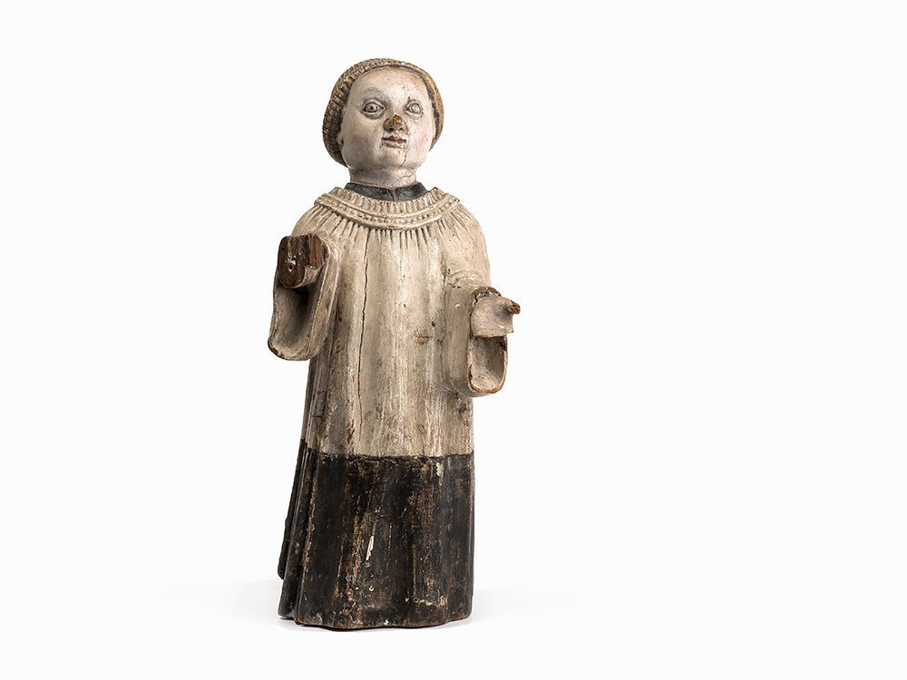 A Figure of a Monk, Probably South America, Early 17th