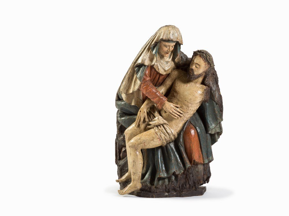 A Late Gothic Pieta, Rhenish, Late 15th/Early 16th C.