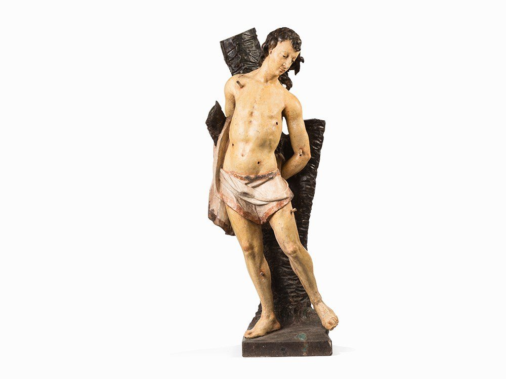 A Figure of Saint Sebastian, Probably German, 17th/18th