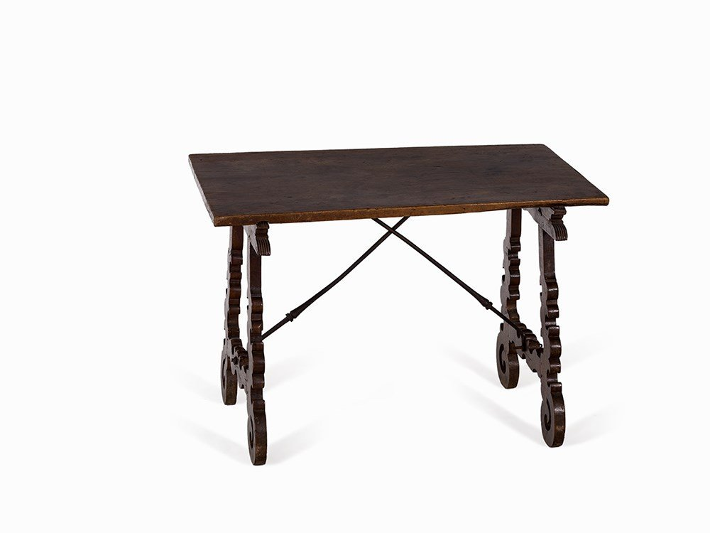 Spanish Table of Solid Walnut, 17th Century