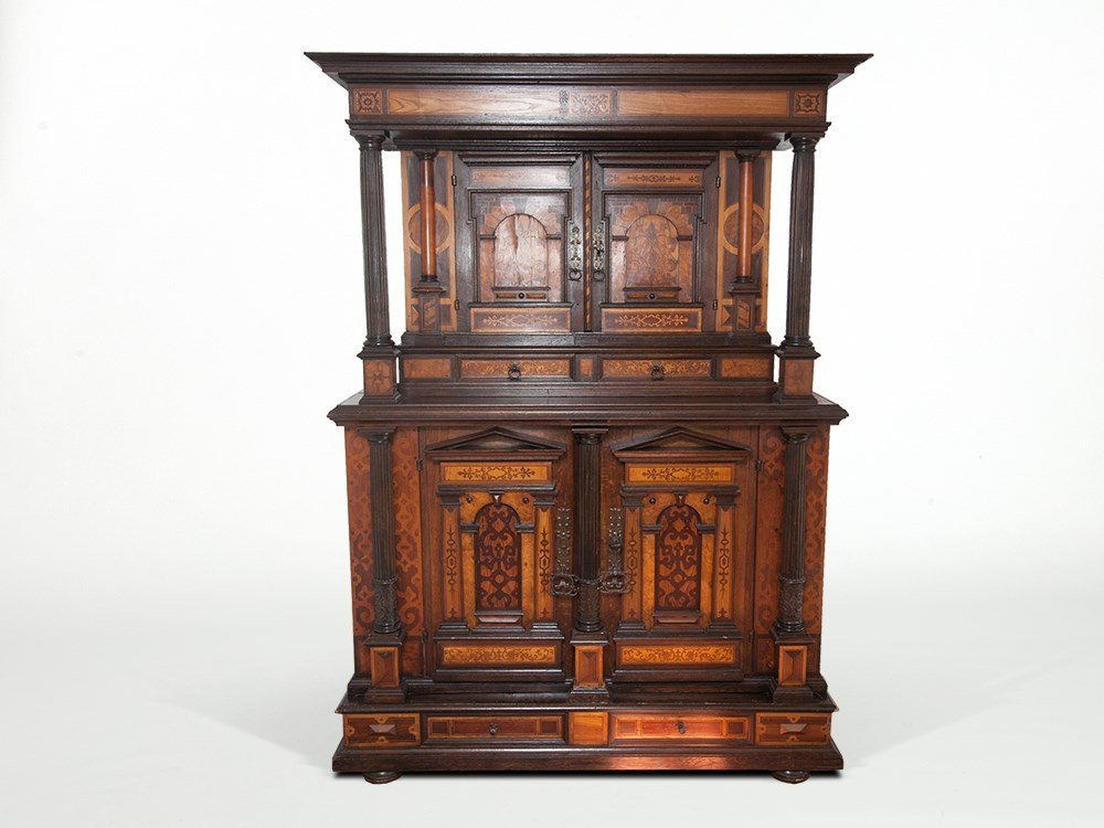 Renaissance Cupboard with Inlays in Museum-Quality,