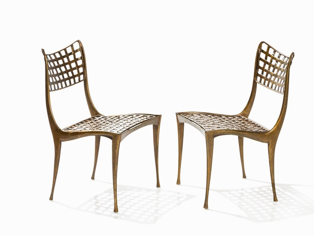 Brown Jordan after Dan Johnson, Pair of Gazelle Chairs,