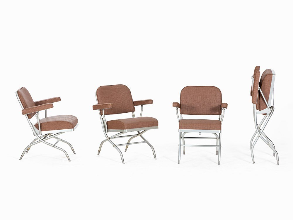 Warren McArthur, 4 Folding Chairs, Mayfair, USA, c.