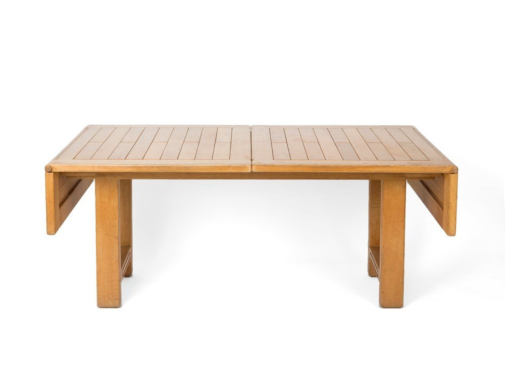 Guillerme & Chambron, Oak Dining Table, France, 1960