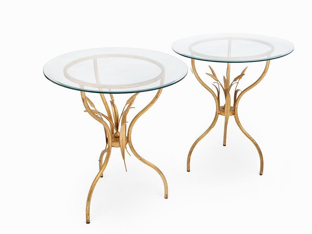 Pair of Iron Mid-Century Side Tables, Italy, c. 1960
