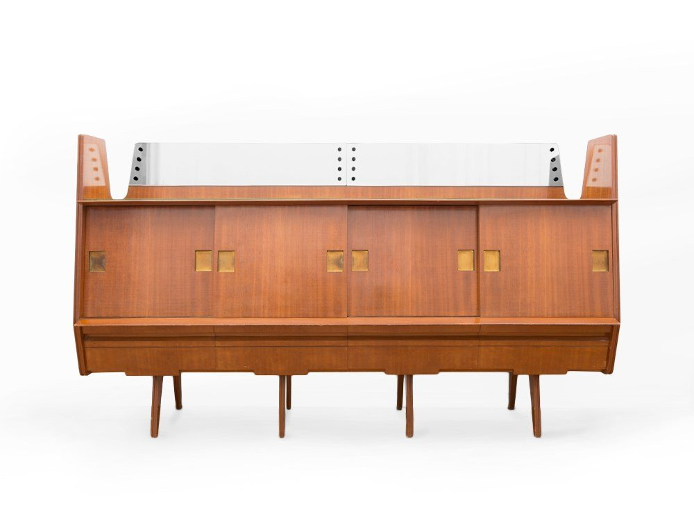 Sideboard with Teakwood Veneer, Italy, 1960s