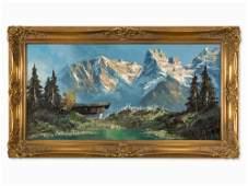 Herbert Uerpmann (1911-1996), Mountain Landscape, 1950s