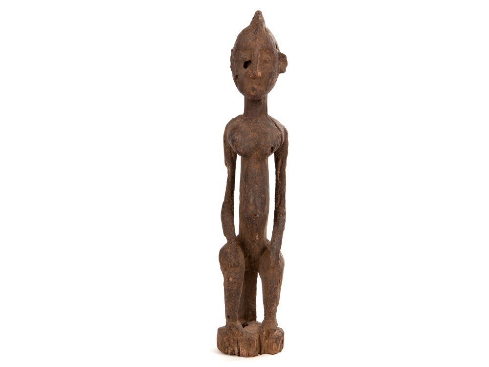 "Wood sculpture ""Female Figure"" of the Dogon people,"