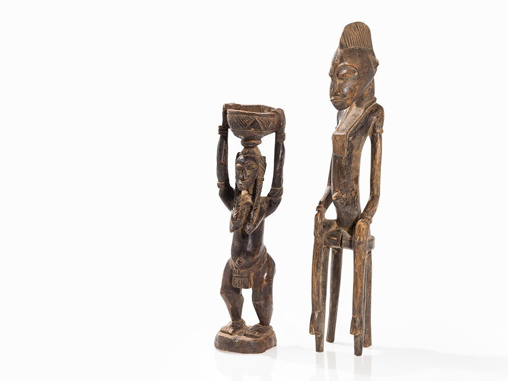 2 Bamana Wooden Sculptures, Mali, early 20th C.