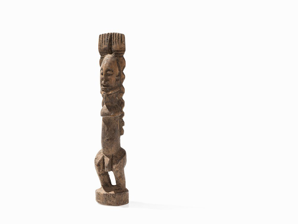 Dogon Statue, 'nommo' with Raised Arms, Mali, around