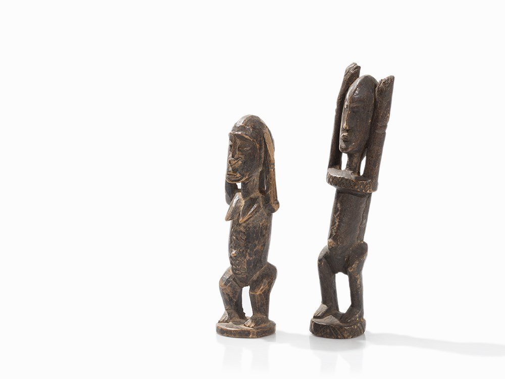 Dogon, 2 Standing Figures, Mali, 20th C.