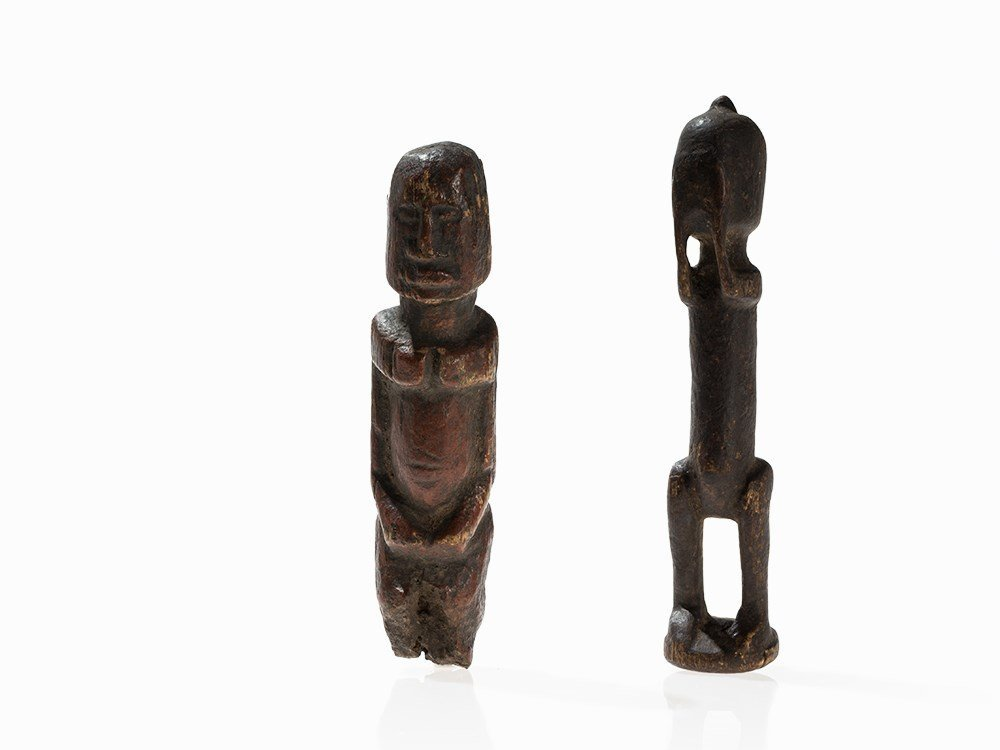 Pair of African 'Durou' Dogon Wooden Figures, Mali