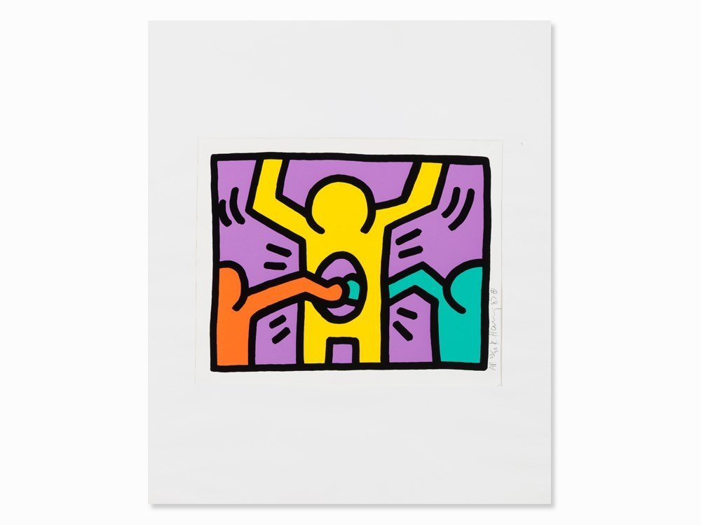 Keith Haring, Pop Shop I, Serigraph in Colors, 1987