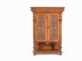 Historistic Cabinet With Carvings, Germany, 1891