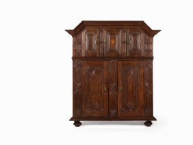 Baroque Armoire Made Of Oak, South Germany, 1751