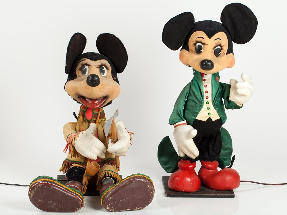 """Mechanical Advertising Displays """"Micky and Minnie"""