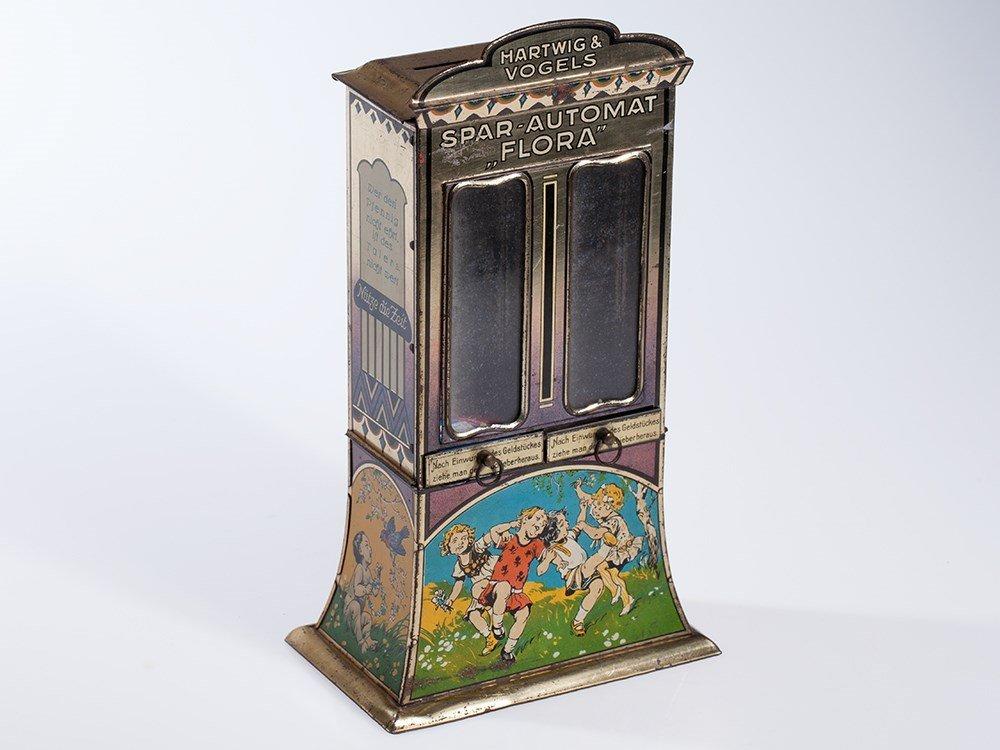 Large Hartwig & Vogel savings bank vending machine