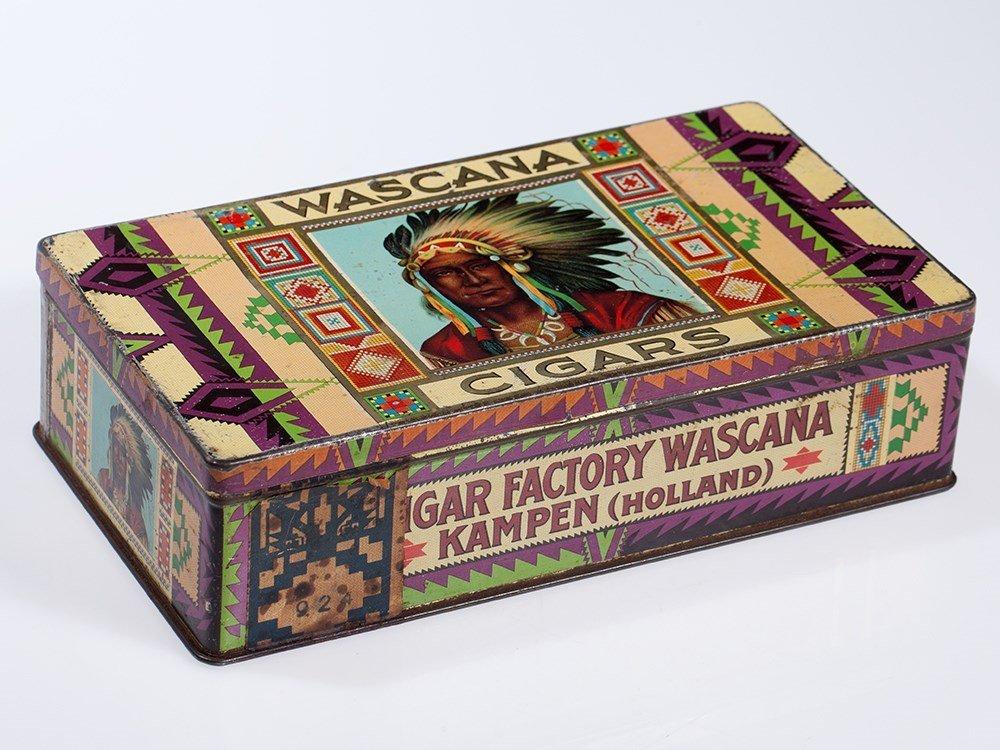 Rare Wascana Cigars Tin Box, Holland, around 1920