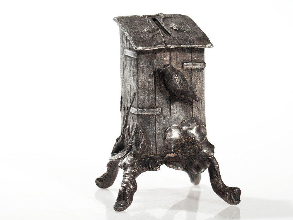 "Wonderful still bank ""birdhouse"", Germany, around 1900"