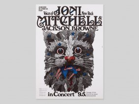 """Great Concert Poster """"joni Mitchell"""" By Guenther"""