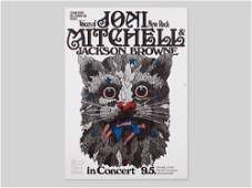 Great concert poster Joni Mitchell by Guenther
