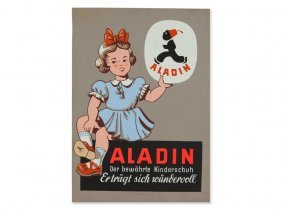 Advertisement Poster 'aladin Children's Shoes', Early