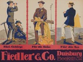 Gerhard Marggraff, Vintage Poster 'fiedler & Co.', 1914