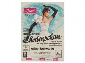Vintage Poster 'international Fashion Show,