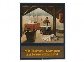 Hoffmueller, Original Advertising Poster 'osram Lamps',