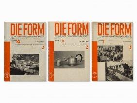 'die Form: Monatsschrift Für Gestaltende Arbeit' Berlin